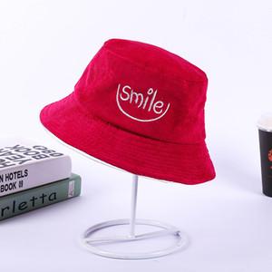 top Hot Fishing Hat Sun Protection Algodão Summer Smile Carta Bordado Chapéus Ao Ar Livre Chapéu De Pescador Casual para homens e mulheres