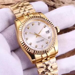 Women Watch Diamante Movimento automático das senhoras Montre DayJust estilo de relógio de aço inox 316L Sapphire qualidade Dial 36 milímetros Senhora Relógios