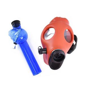 Máscara de silicona acrílico pipa máscara de gas Tubos tubería de agua Pipas de agua Bongs Shisha Tabacco petróleo plástico Burner