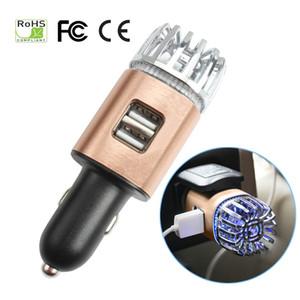 자동차 공기 청정기 듀얼 USB 충전기와 2 1 1 네거티브 Lons 이온화 기 공기 청정기 이오니아 냄새 제거기 연기 박테리아 정수기