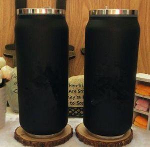 Classic logo nero Vacuum Cup straw Thermoses car bottle Flask Tazze Garrafa straw Termica Inox lipstick cup Coffee Travel