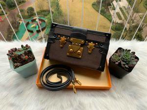Bolsas de ombro Hot luxo caixa Mulher Evening Bag Couro Moda Box Atacado - Designer Clutch Bag Messenger Bag Petite Malle