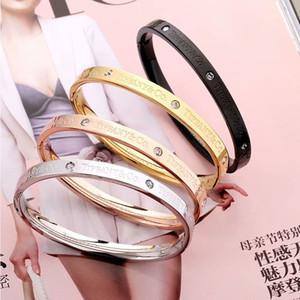 T designer de marca de jóias mulheres pulseiras de aço titanium amizade pulseiras mulheres snap jóias pulseiras pulseira única de diamantes