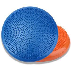 Großhandel 33 cm langlebig universal aufblasbare yoga wackelstabilität balance disc massage kissen matte yoga übung fitness punkt massage ball