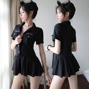 Полицейское равномерное искушение стюардессы профессиональной роли костюма ночного клуб играет танцевальные костюмы сексуального женское белье