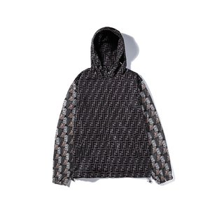 2020FI Fêndi designer couple jackets men women luxury printing hoodies Europe-America fashion tide brand hoodie casual cultural coat selling