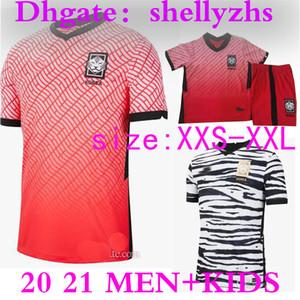 HOMMES + ENFANTS 20 21 Corée du Sud maison rouge SON HUN KWON football Jersey 2020 2021 Corée du Sud loin LEE HO KIM SON HYUNG KIM FOOTBALL JERSEY Chemises