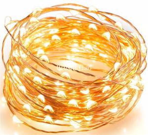 10M 100 LED à piles guirlande lumineuse étanche LED fil de cuivre String Fairy Lights extérieur pour l'amour de mariage romantique vacances