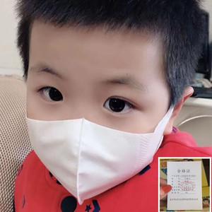 La cara de 50pcs 3layers desechable niños Máscara 135 * 70 mm de tela no tejida fundida por soplado anti-polvo anti-niebla suave y transpirable Boca máscara blanca