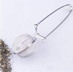 جديد مع مقبض الإبداعي المقاوم للصدأ كيس شاي ملعقة الشاي مش الكرة التحلل مصافى أدوات المطبخ