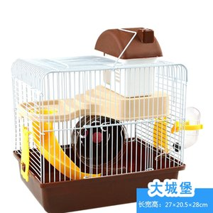 Pequeno Pet Hamster Tassel Urso Locust Fundação Gaiola Grande Individual Duplo Castle Garden Package Suprimentos de Pequenos Animais