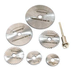 7pcs / lot nuovo strumento circolari Lame per seghe circolari portatili dischi da taglio Spina per Dremel Cutoff libera Shiping
