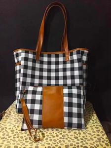 5styles stampa del leopardo patchwork borsa con cerniera wristlet borsa di girasole manico in pelle di bufalo tote shouler plaid bag 17inch FFA3315