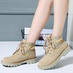 TKN 2019 Printemps Femmes Cheville Bottes Chaussures Femme Toile Haute Moto Bottes Chaussures De Travail Milieu Du Mollet Femmes Chaud Neige WF016