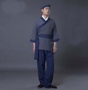 Hanfu civiles ropa china Folk Dance 5 Color chino antiguo de vestuario escenario de funcionamiento del traje Traje Siervo