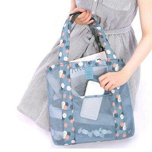 2019 Nouveaux sacs de réception en maille pour les femmes avec une épaule et des sacs de voyage pour la plage et un sac de rangement pour maquillage et maquillage