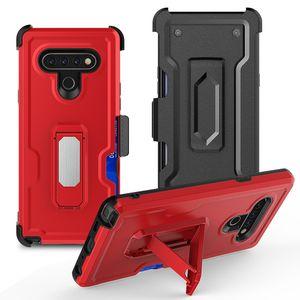 LG için Fabrika sıcak satış kemer klipsi kılıf telefon kapağı 6 K51 koruyucu shockproof telefonu kılıfı stylo