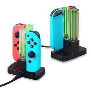 4 in 1 Control Charger For Nintendo Switch 4 Joy-Con Controllers Charging Cradel Dock Station LED indication Charger Stand hot