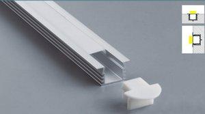2 .5M / PC 40pcs / Lot heißen populärer verkaufender freies Verschiffen-Groß Anodized LED Aluminiumprofilextrusion Für Led flexible Streifen Licht