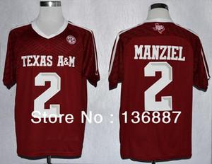Usine OUTLET- Texas AM Aggies # 2 Johnny Manziel 2014 New Style, Techfit authentique, livraison gratuite, College Football chandails, Can Mix Commander Jer