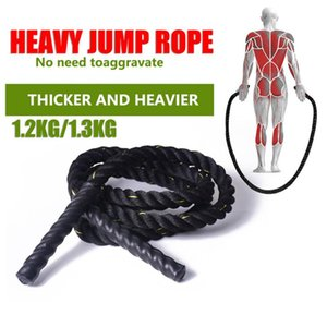 Battle Rope black 25mm Fitness Heavy Jump Rope Weighted Skipping Ropes for Men Women outdoor sports fitness Jump Ropes