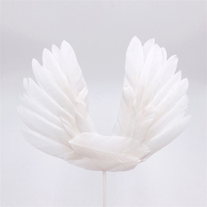 Wing Angelic Cake Toppers Dekorieren Fashion Feather Romantic Aestheticism Einfügen von Karten Hochzeit Dessert Table Articles 1 8sn p1