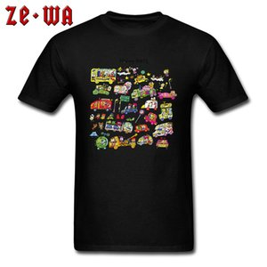 Toy Car T-shirt Cartoon Tshirt For Men Funny Black Tops Vintage Classic Tees Graphic Streetwear Hip Hop 100% Cotton Clothing