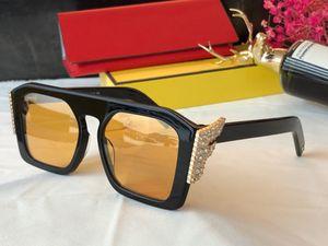 0381 óculos de sol Mulheres Diamante do desenhador de moda Popular Charming Óculos Óculos de Sol de qualidade Top Proteção UV Óculos de sol vem com pacote