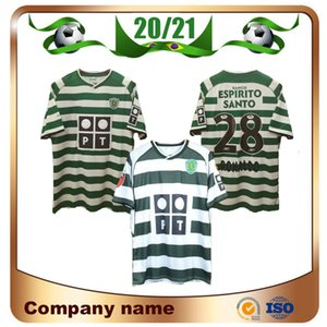 Portugal Soccer Jersey 2004 Lisboa # 28 Ronaldo Futebol Camisa uniforme de futebol 03/04 Sporting Clube de manga curta personalizado