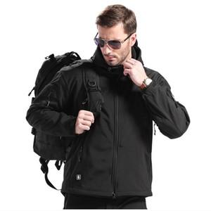 Yeni TAD Dişli Taktik Yumuşak Kabuklu Kamuflaj Açık HIiking Ceket Erkekler Ordu Spor Su geçirmez Av Giyim Askeri Ceket