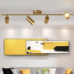Pist ışıkları GU10 Nordic Altın Duvar oturma odası Parça Işık Arkaplan Sahne Aydınlatma DHL için Altın Metal Tavan Işık Monteli