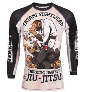 Jiu Jitsu masculina Rashguard camisetas de manga larga BJJ GI kickboxing Muay tailandés camiseta impresa mono Medias Fightwear