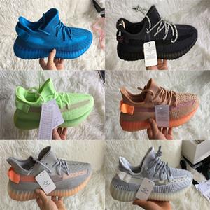 Mit Box Empfang Top-Qualität yecheil Gid Glow Lundmark wahre Form Kanye West der Männer Frauen Schuhe Lehm Schwarz Laufschuhe reflektierend