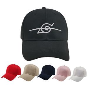 2019 New Naruto Cap Uchiha Uzumaki Logo Cotton Snapback Cap Baseball Cap for Men Women Hip Hop Dad Black Snapback Hats Present