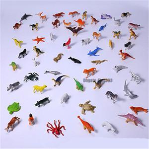 Kinderdinosaurier spielt 60PCS / Lot Dinosaurier-Abbildungen Puppe-Minitiere 5CM sammeln Spielzeug freies Verschiffen KT8149