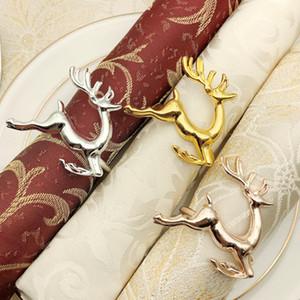 Fawn Napkin Rings Noël Jour Serviettes Anneau Alliage Western Style De Mode Exquis Décorations De Table Vente Chaude 3 2hw J1