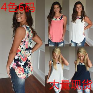 Trendy2019 Yuvarlak Kolay Takım Elbise Elbise Boyun Baskı Bölünmüş Ortak Kolsuz Yelek T Yazık