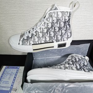 With box 2019 New Gao Bang Flowers Technical Canvas shoes High Topdesigner luxury hand shoes 3M Mens Women luxury designer shoes