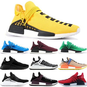 Nouveau Pharrell Williams race humaine hommes NMD femmes Chaussures Casual Noir Blanc Gris nMDS primeknit PK runner XR1 R1 R2 Sneakers US5-12
