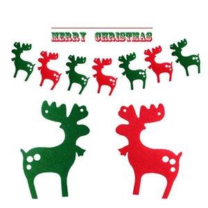 3m DIY não-tecido Tecido Xmas Flags Papai Noel Floral Bunting Bandeiras do Feliz Decoração de Natal Home Loja Mercado Room Decor