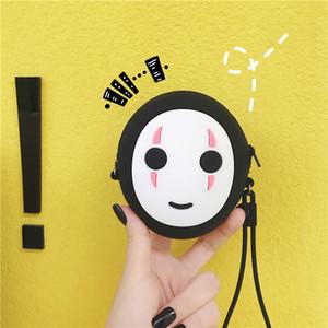 Hayao Miyazaki Anime Ruhların Kaçışı Faceless Kawaii Silikon Cüzdan Tasarruf Bankası Oyuncak kolye Karikatür Versiyon Yüzsüz Silika Madeni Para Çanta
