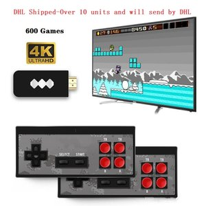 Newest HDMI Video Mini TV Game Player Console handheld HDMI 600 Retro Classic Games With Wireless Controller Pad Retail Box Christmas Gift
