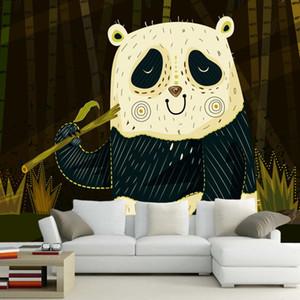 Abstraktes modernes Tapetenwandgemälde Karikaturpanda chidren 3d, livingom Sofa Fernsehwandschlafzimmer-Tapetenhauptdekor