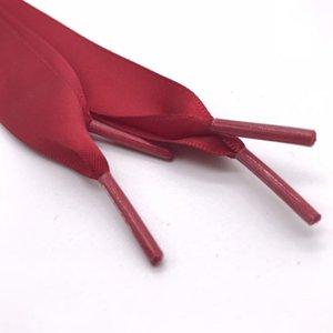 1 par de 140 cm de la cinta plana cordones de seda sólido 2cm Casual zapato ancho cordones nueva manera del verano linda rosa púrpura elástico cordones