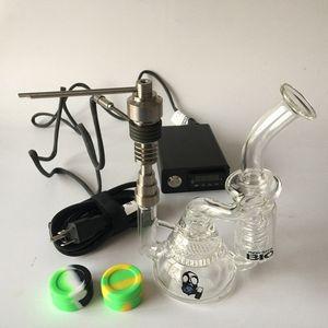 공장 직접 판매 스마트 E 디지털 네일 키트 Kavlar 코일 PID TC Dab 네일 유리 봉 Honeycomb Recycler Bongs 워터 파이프 장비