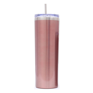 20OZ Stainless Steel Skinny Tumbler Vacuum Insulated Straight Cup Beer Coffee Mug Wine Glasses Fashion Water Bottle With Lids VT0597