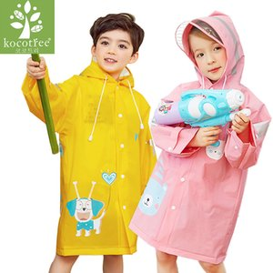 Clear Rainsuit Fashion Animal Waterproof Kids Boys Girls Rainsuit Hooded Pvc Overall Cartoon Hooded Children Rainsuit Suit 7R89