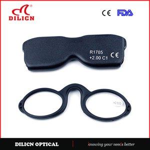 نظارات القراءة كليب الأنف للطي نظارات القراءة للمرأة طوي الرجال بصري مرن قابل للتعديل المحمولة