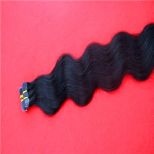 Remy Unprocessed Tape PU Skin Weft Hair Straight 8A Invisible Seamless Adhesive Hair Extensions 8-32 Inchs