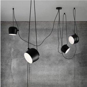 1/2/3/4/5 capi Pendant Led fai da te Drum lampada per ristorante moderno Negozio di abbigliamento finestra Pendant Light Industrial Indoor apparecchio di illuminazione